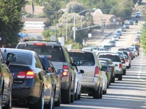 Rush hour on Vista streets